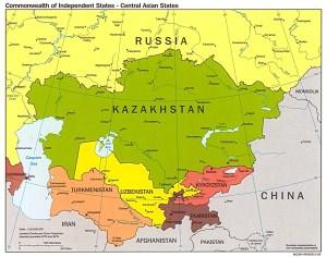 7 Benua Dunia Ishfah Page 2 Asia Tengah Gambar Peta