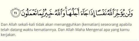Al-Munafiqun Ayat 11